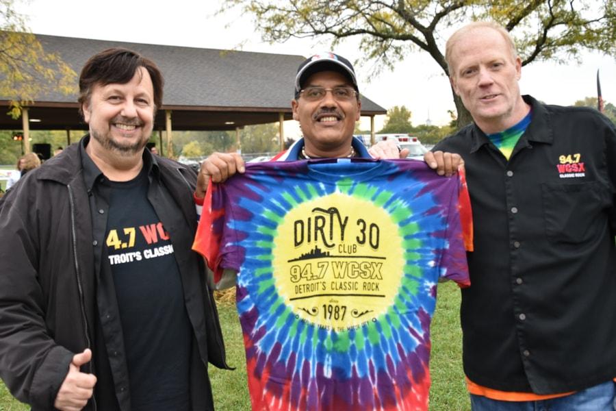<big><big>Jim and Scott were giving away some t-shirts!
