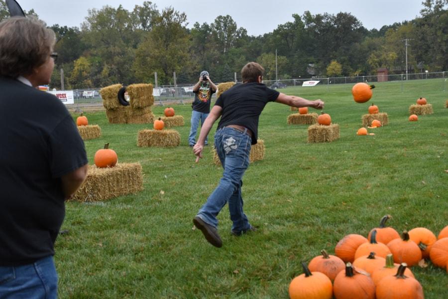 <big><big>We had pumpkin chucking!