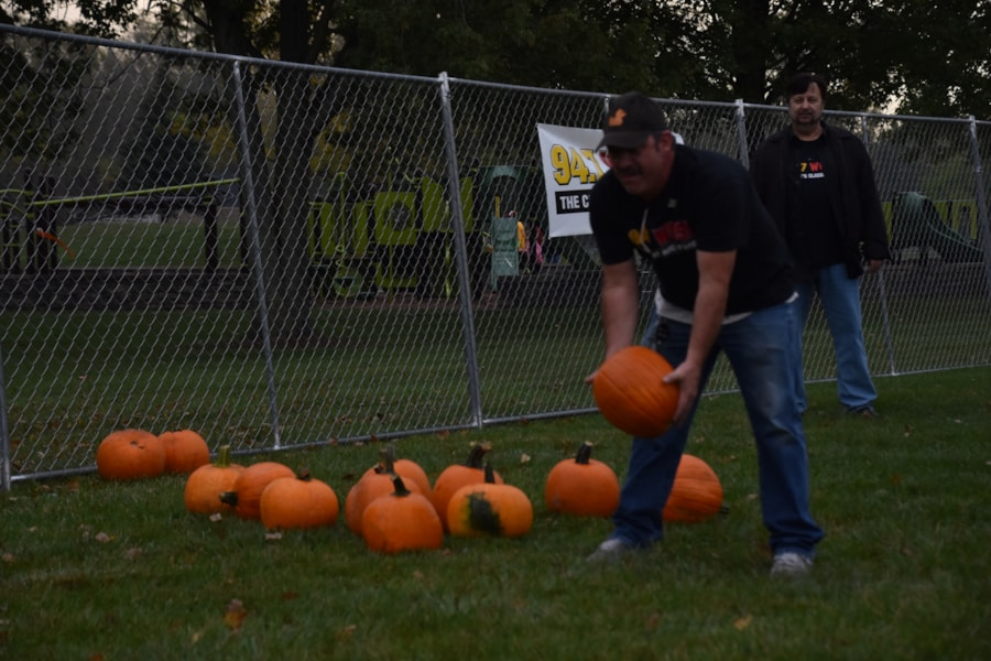 <big><big>Those pumpkins can be awful heavy to lift!