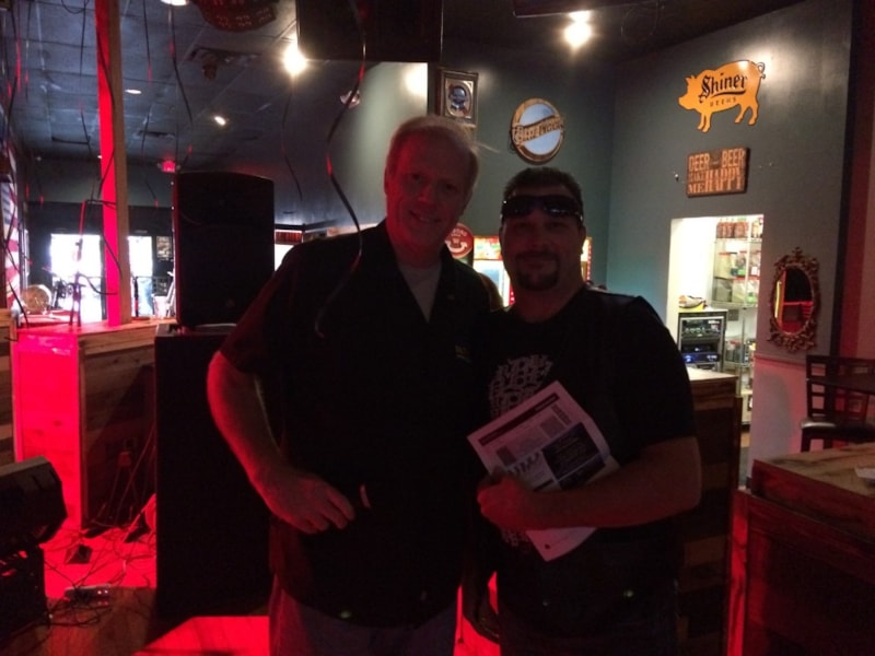 Scott Shepard checks out Bike Night at Kapones