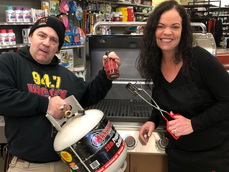 """Doni and Joel """"Tool Patrol"""" Morgan were hanging out at Great Lakes Ace Hardware in Westland"""