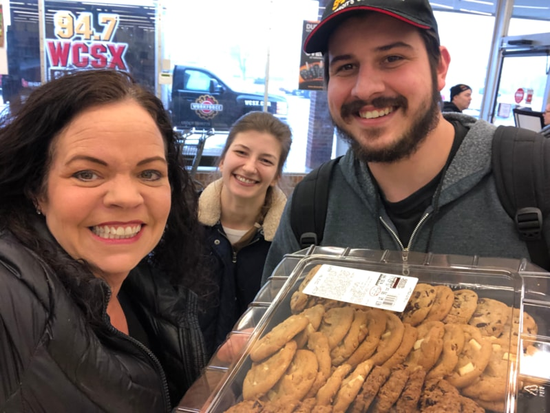 Our friends at Ace Hardware provided snacks! Mmm cookies!