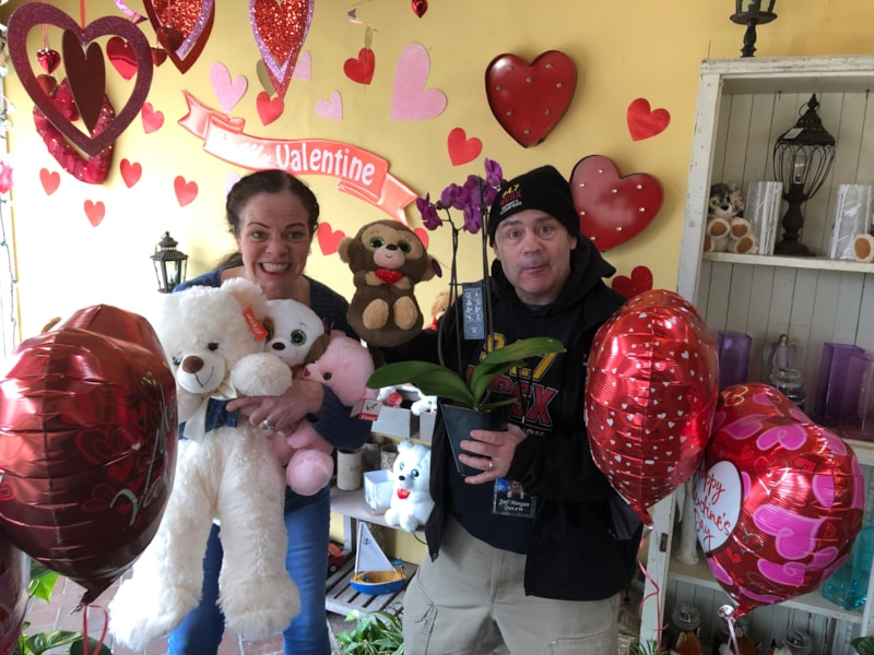 LOOOOVE was in the air at The Flower Shoppe on Middlebelt in Westland