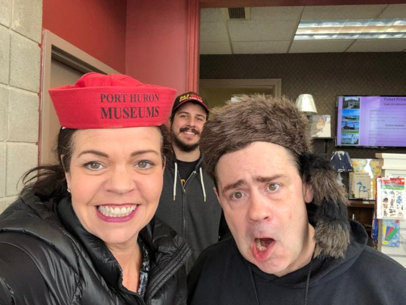 Port Huron Museum...hats make everything more fun